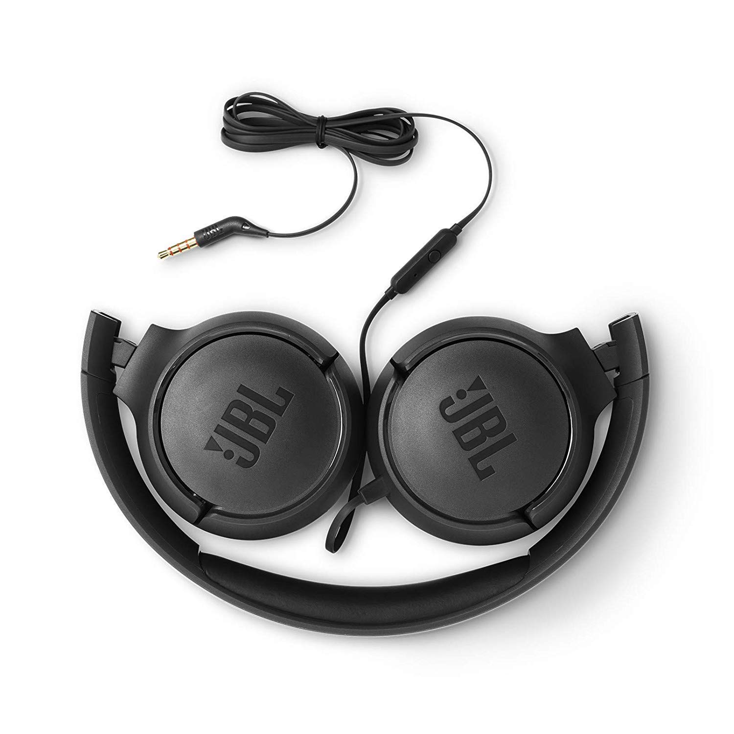 JBL Tune 500 Powerful Bass On-Ear Headphone with Mic (Black)