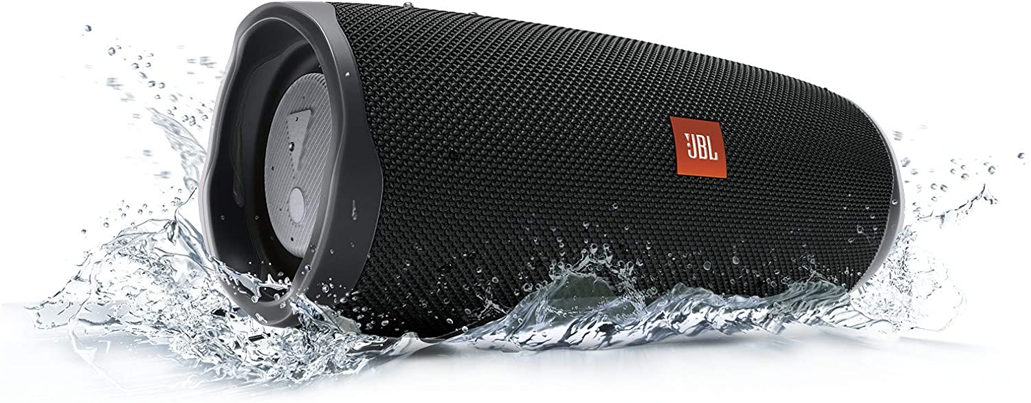 JBL Charge 4 Waterproof Portable Bluetooth Speaker with 20 Hour Battery (Black)