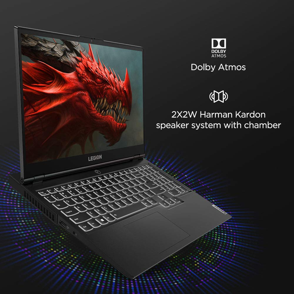 Lenovo Legion 5i 82AU00CFIN i5-10300H 15.6inch FHD Anti Glare 120 Hz, 250 nits 8GB ,512 SSD Win10 NVIDIA GEFORCE GTX 1650 4GB GDDR6 Phantom Black.
