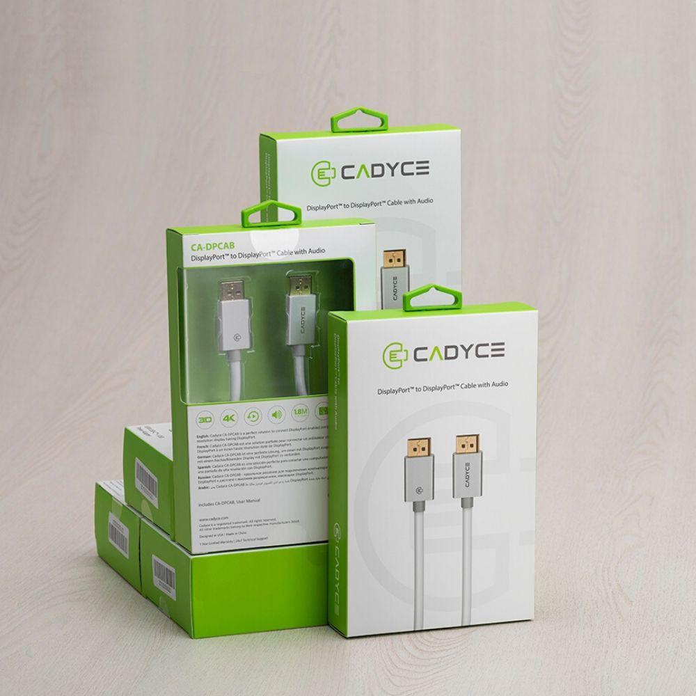 Cadyce DisplayPort to DisplayPort Cable with Audio 1.8M (4K x 2K @60Hz) CA-DPCAB
