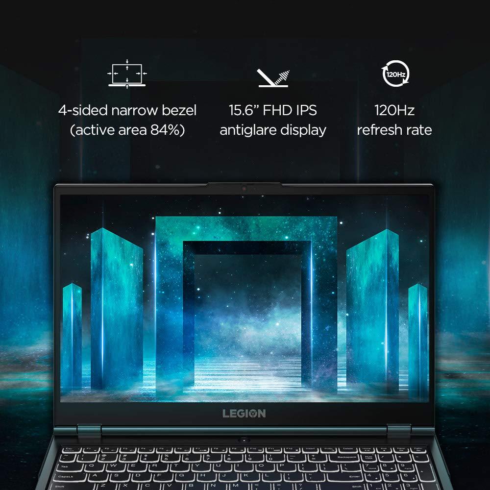 Lenovo Legion 5i 82AU004QIN Gaming Laptop i7-10750H 15.6inch FHD Anti Glare 120 Hz, 250 nits 8GB 1TB+256GB SSD Win10 NVIDIA GEFORCE GTX 1650  4GB GDDR6 Phantom Black
