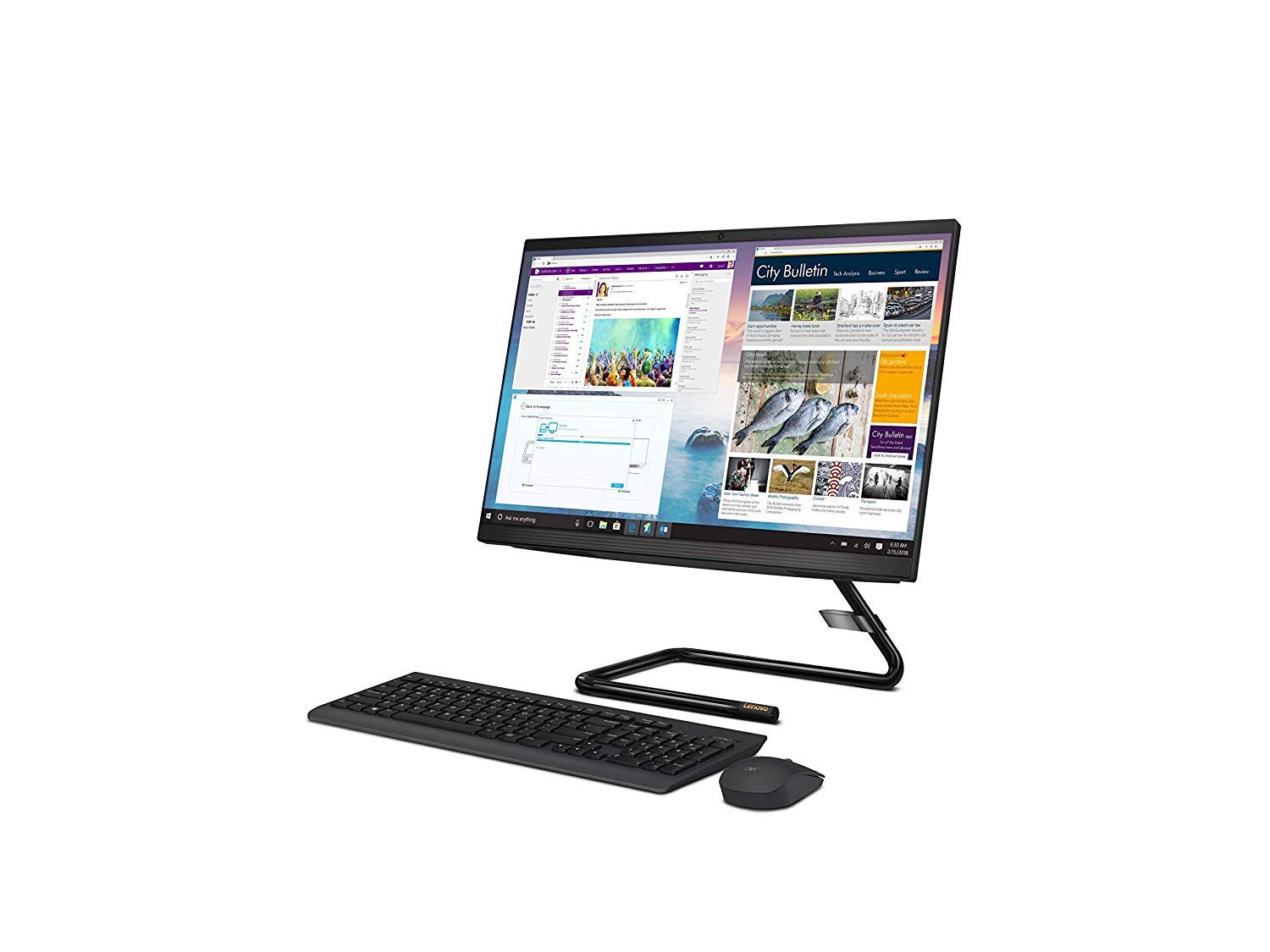 Lenovo AIO A340 22IWL F0EB00CQIN 21.5inch FHD IPS Intel 10th Gen Core i3-10110U 8GB DDR4 1TB HDD Win10 Home Black