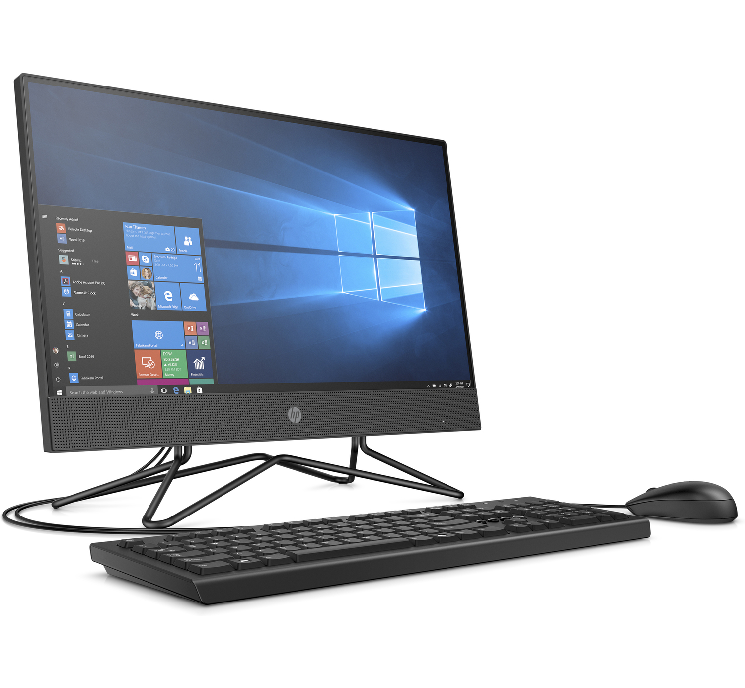 HP 200 Pro G4 22 All-in-One PC 2W952PA 21.5inch FHD Core i5-10210U 8GB DDR4 RAM 1TB HDD Win10 Pro With ODD