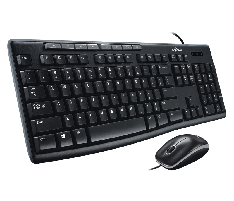 Logitech Media Combo MK200 Full-Size Keyboard and High-Definition Optical Mouse (LOKM0023)