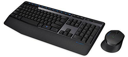 Logitech MK345 Wireless Combo – Full-Sized Keyboard with Palm Rest and Comfortable Right-Handed Mouse (LOKM0032)