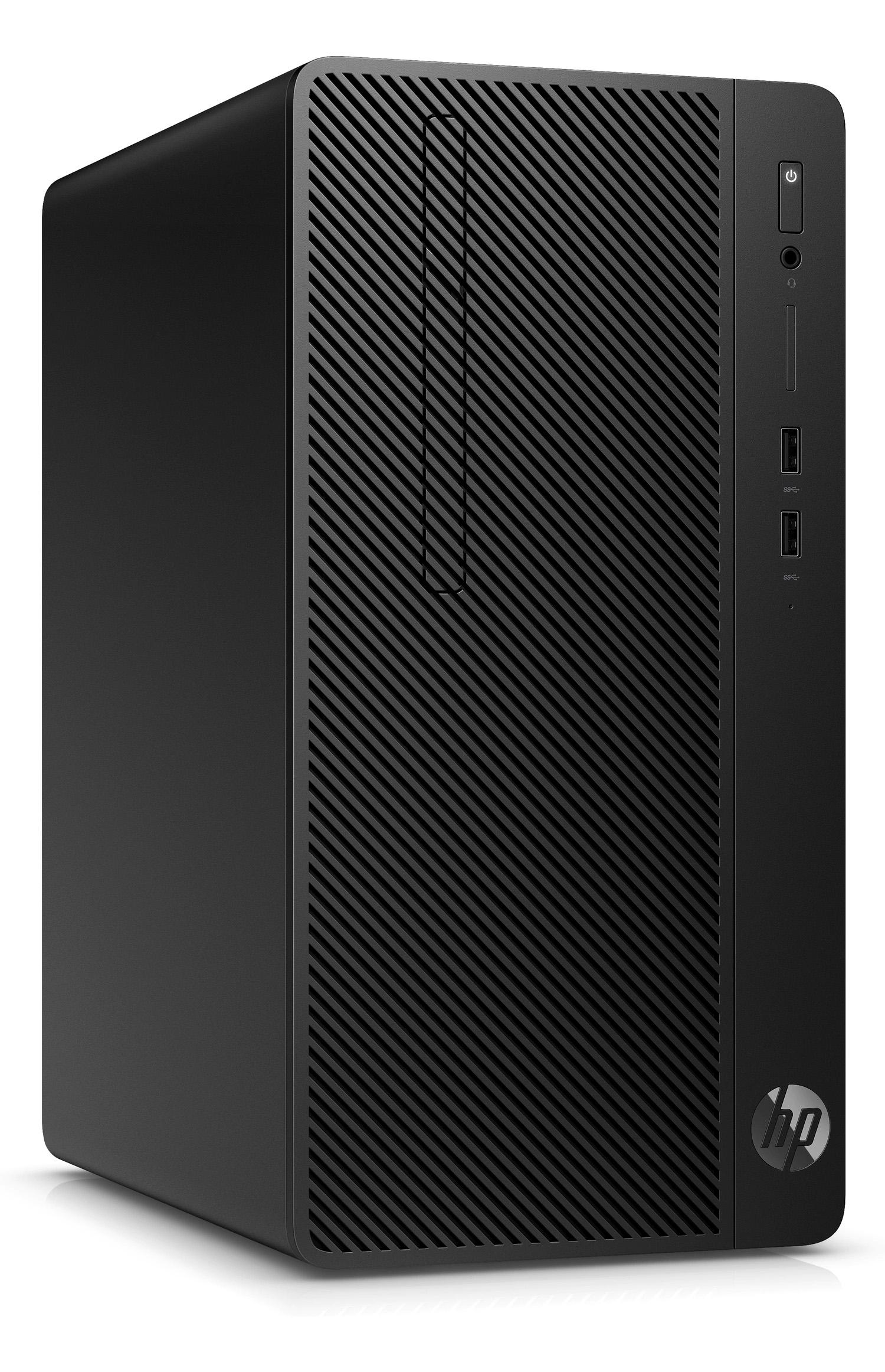 HP 280 Pro G5 MicroTower Desktop 3C773PA Intel Core i5-9400 8GB DDR4-2666 1TB Win 10 Pro HP 18.5inch Monitor