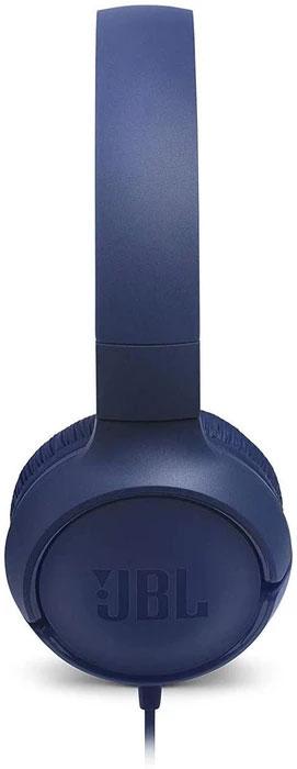 JBL Tune 500 Powerful Bass On-Ear Headphone with Mic (Blue)